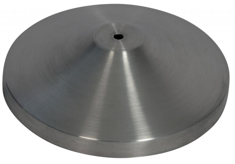 Retractable barrier base- stainless steel - 31x31cm (post not included)