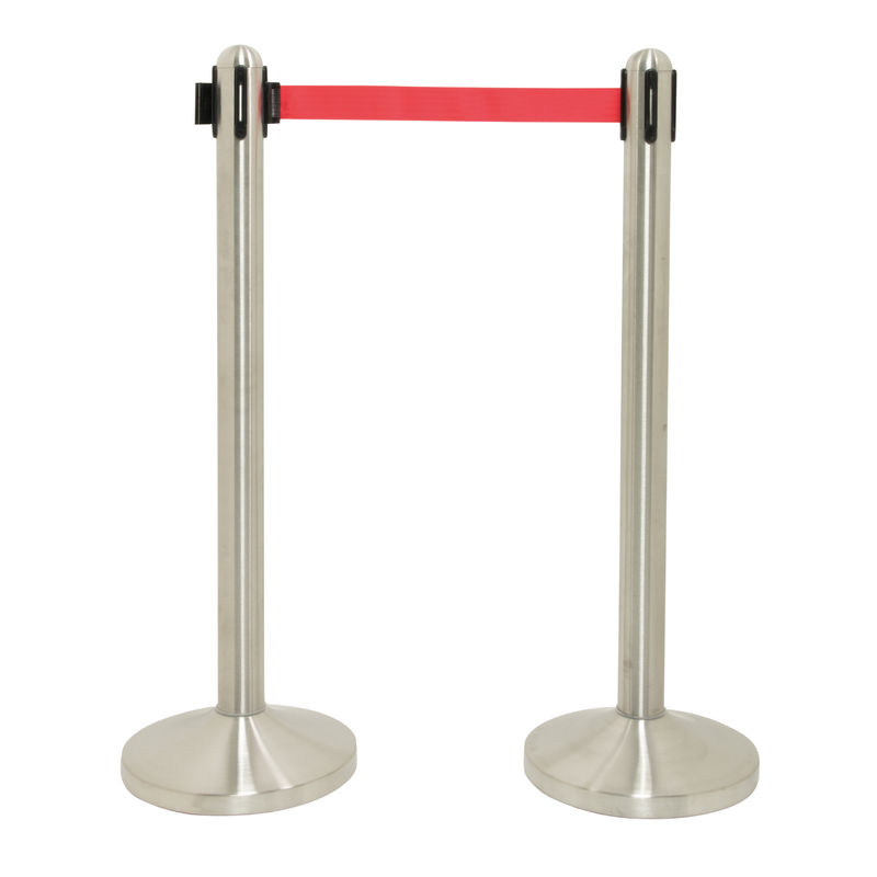 Securit® Retractable barrier pole (excl. base) - Red nylon tape (210cm)