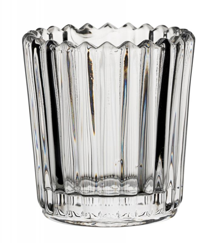 Large Ribbed Clear Nightlight Holder
