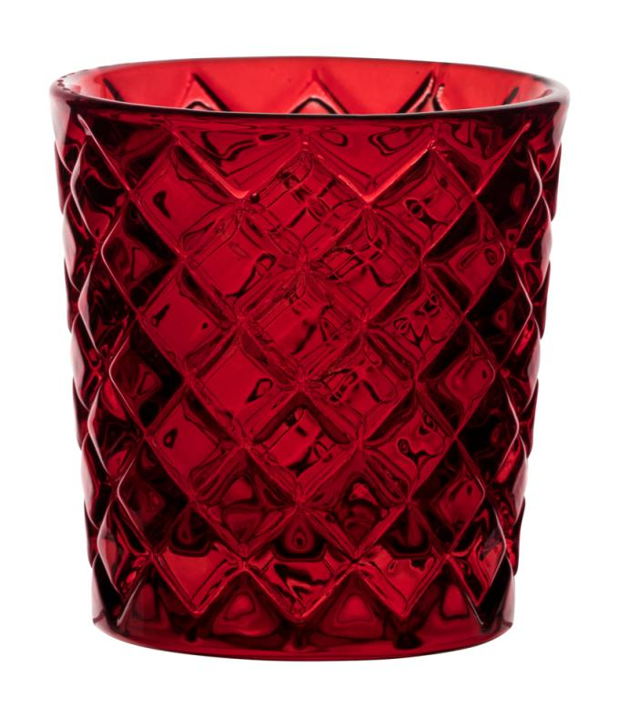 Criss Cross Red Nightlight Holder