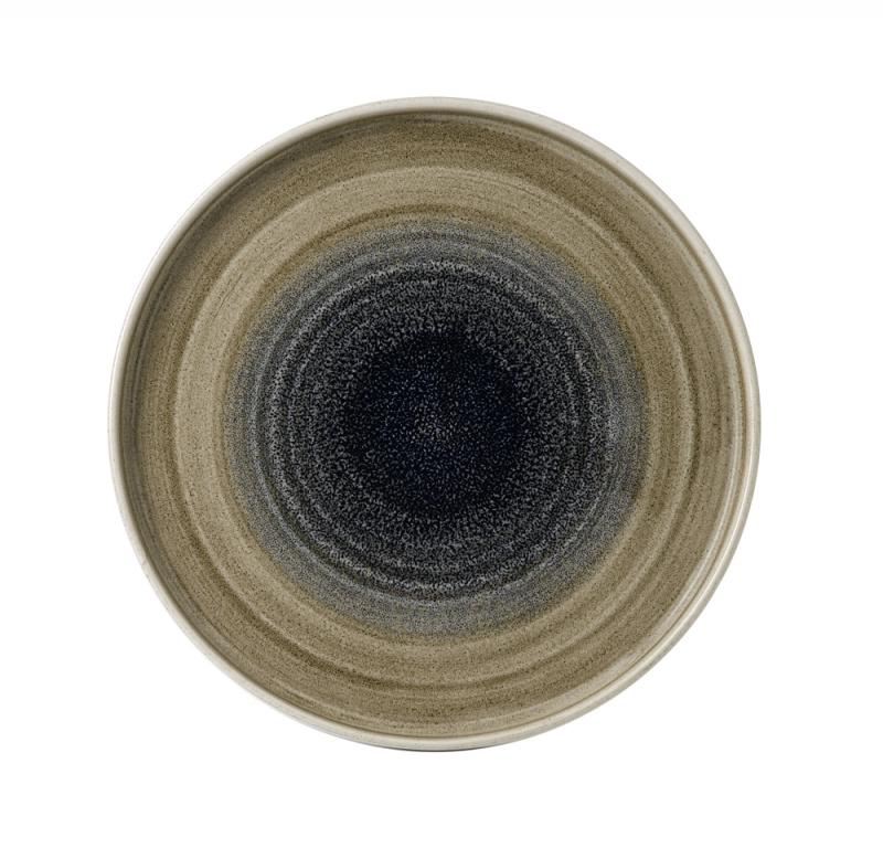 "Stonecast Aqueous Bayou  Walled Plate 10 2/8"" Box 6"