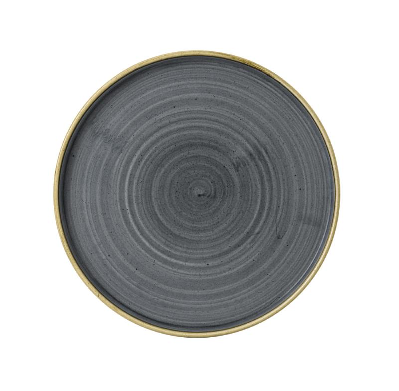 """Stonecast Blueberry  Walled Plate 10 2/8"""" Box 6"""