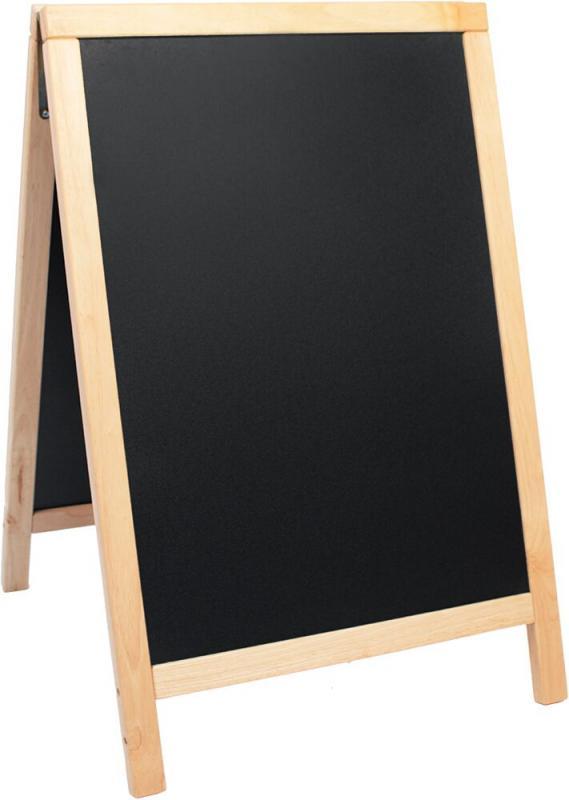 De Lux chalk board, lacquered beech finish 55x8...