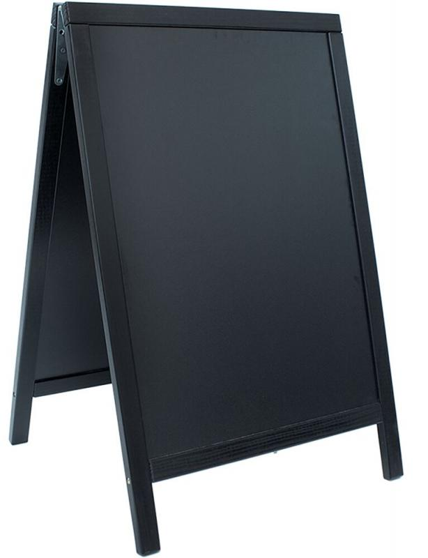 Securit® Duplo pavement chalkboard with lacquered pinewood frame.
