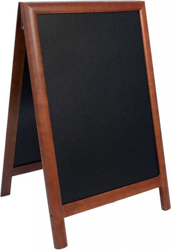 De Lux chalk board, lacquered Dark wood finish ...