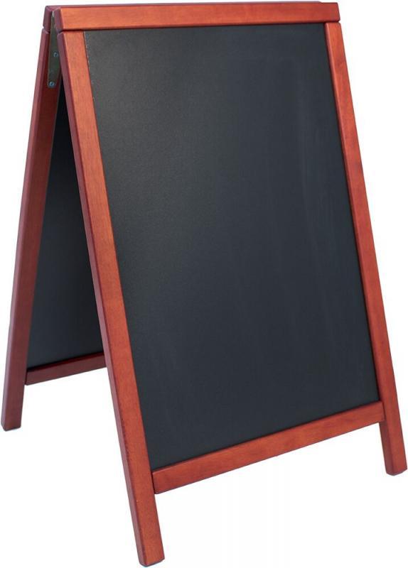 De Lux chalk board, lacquered Mahogny finish 55...