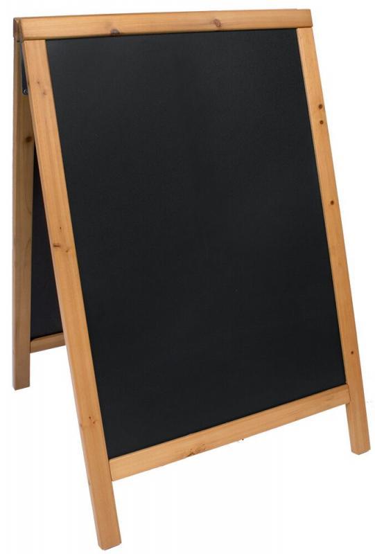 Woody, chalk board, lacquered teak finish  55x85cm
