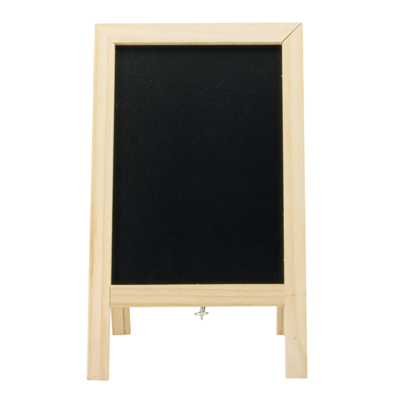 Securit® Mini table chalkboard / Poster Holder - Plain lacquered wood
