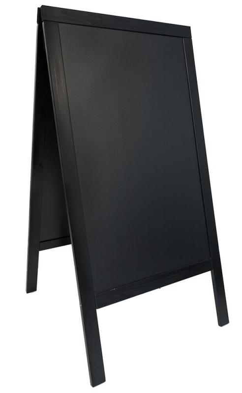 Woody, chalk board, lacquered black finish 70x125cm
