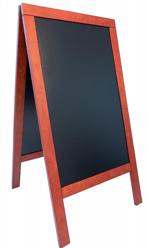 De Lux chalk board, lacquered Mahogny finish 70...
