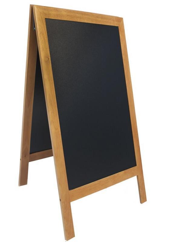 De Lux chalk board, lacquered Teak finish 70x13...