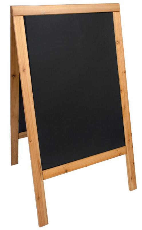 Woody, chalk board, lacquered teak finish 70x125cm