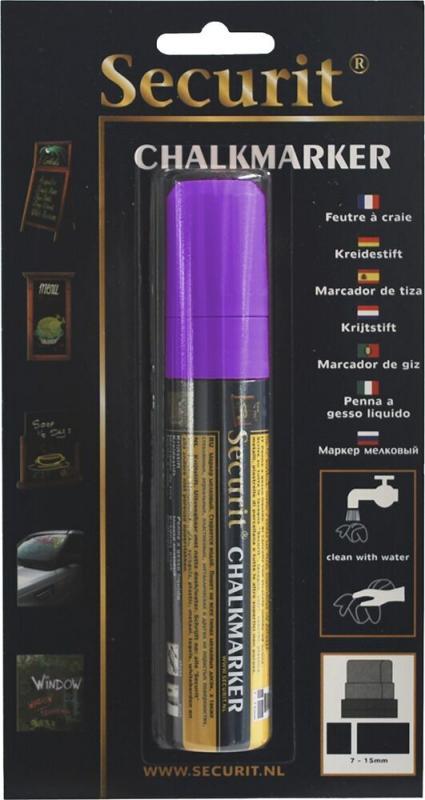 Securit® Liquid chalkmarker Violet - large 7-15mm Nib