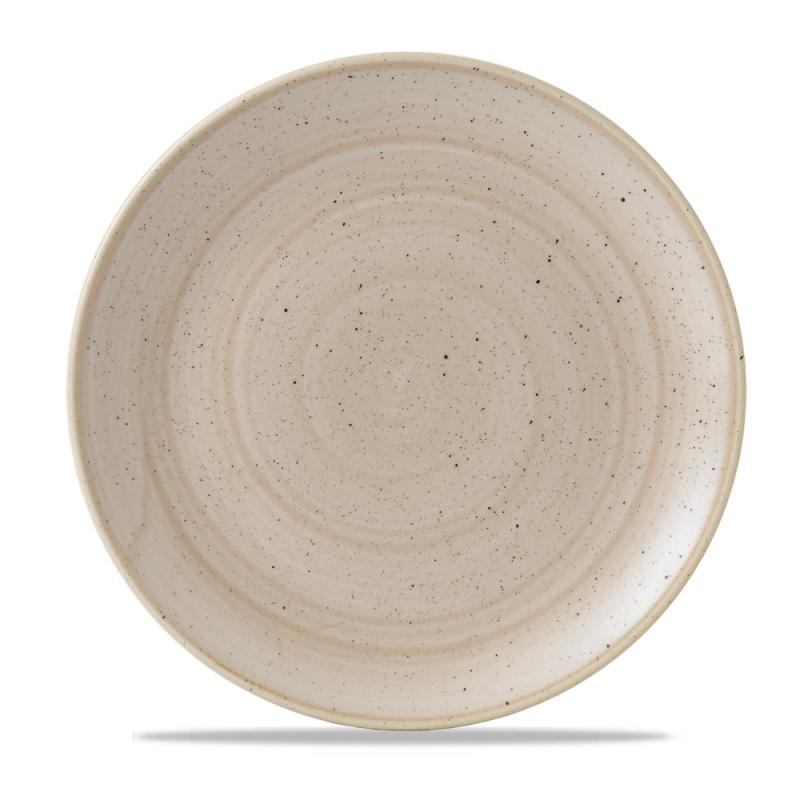 "Stonecast Nutmeg Cream Evolve Coupe Plate 11.25"" Box 12"