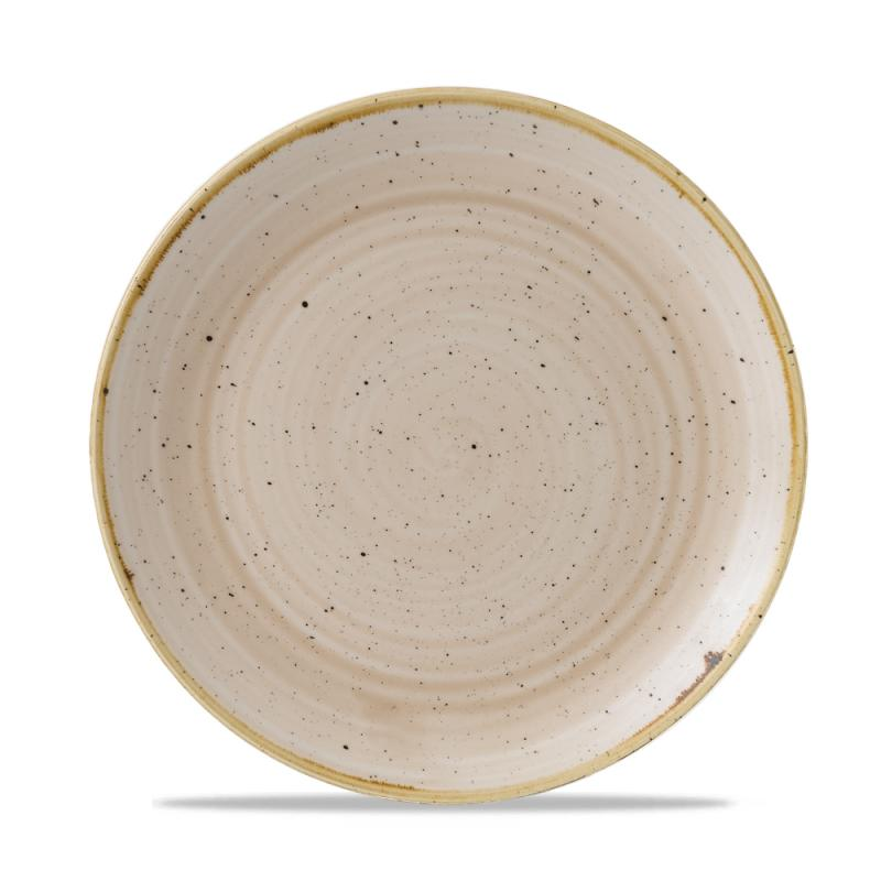 "Stonecast Nutmeg Cream Evolve Coupe Plate 8.67"" Box 12"