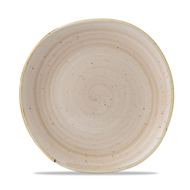 "Stonecast Nutmeg Cream Round Trace Plate 10 3/8"" Box 12"