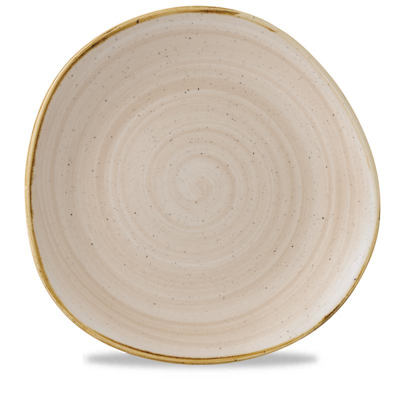"Stonecast Nutmeg Cream Round Trace Plate 11 1/4"" Box 12"