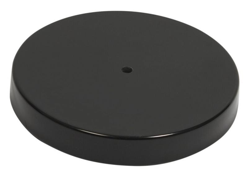 Securit® Smoking Post Base - Black stainless steel  25x25cm (post not included)
