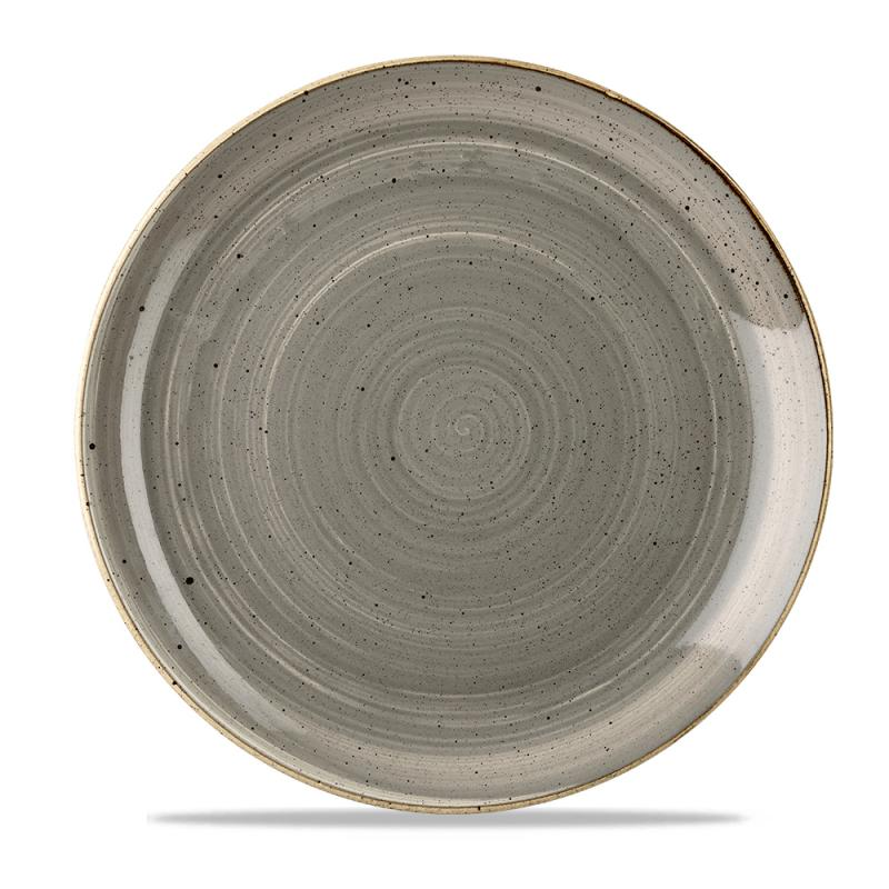 """Stonecast Grey Evolve Coupe Plate 11.25"""" Box 12"""