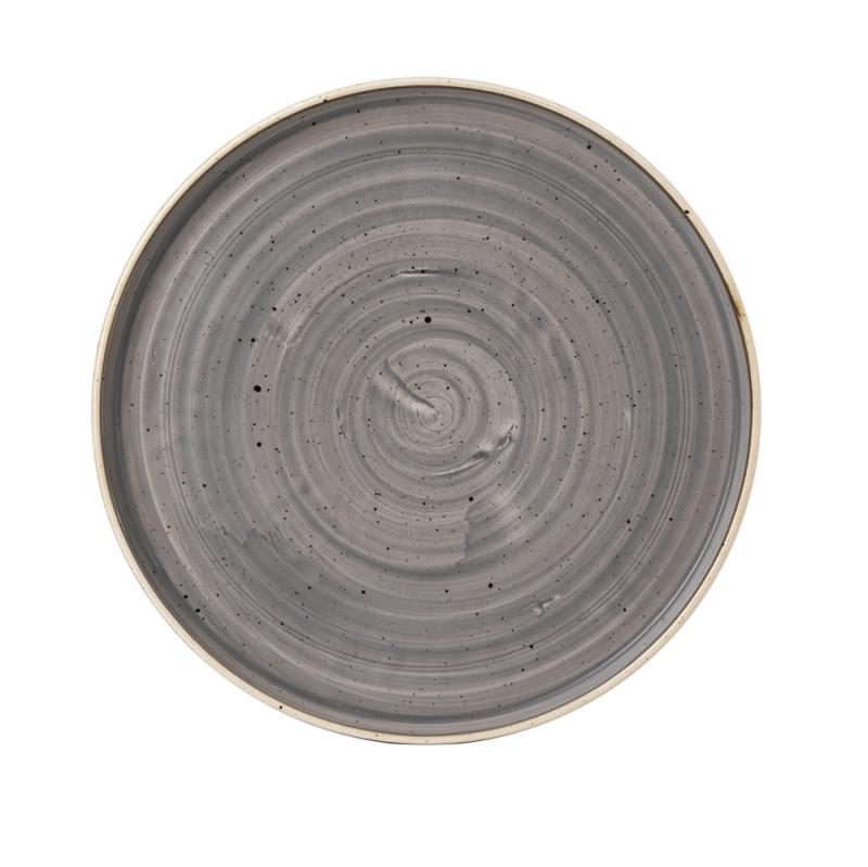 """Stonecast Grey  Walled Plate 11"""" Box 6"""