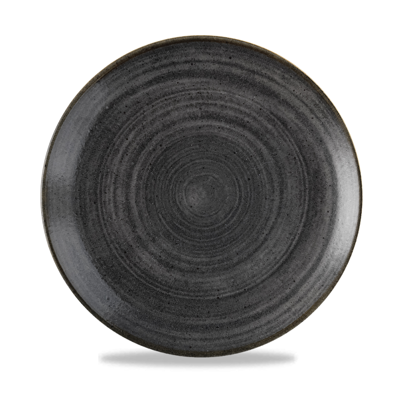 "Stonecast Raw Black Evolve Coupe Plate 10.25"" Box 12"