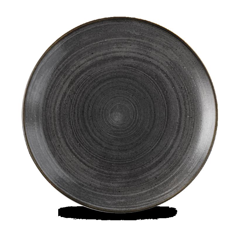 "Stonecast Raw Black Evolve Coupe Plate 11.25"" Box 12"