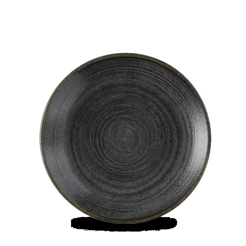 "Stonecast Raw Black Evolve Coupe Plate 6.5"" Box 12"