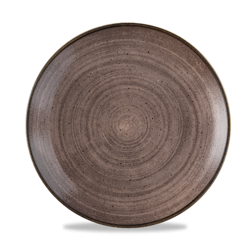 """Stonecast Raw Brown Evolve Coupe Plate 10.25"""" Box 12"""
