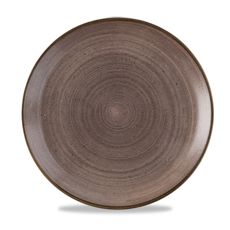 """Stonecast Raw Brown Evolve Coupe Plate 11.25"""" Box 12"""