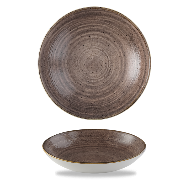 """Stonecast Raw Brown  Coupe Bowl 7.25"""" Box 12"""