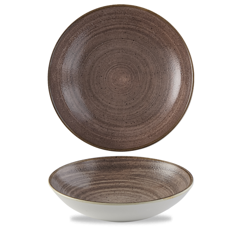 """Stonecast Raw Brown Evolve Coupe Bowl 9.75"""" Box 12"""