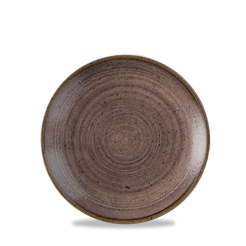 """Stonecast Raw Brown Evolve Coupe Plate 6.5"""" Box 12"""