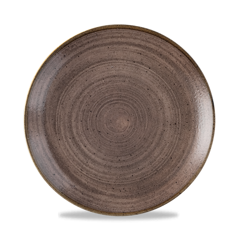"""Stonecast Raw Brown Evolve Coupe Plate 8.67"""" Box 12"""