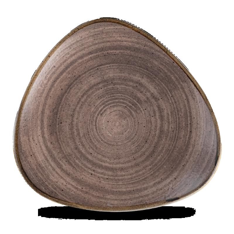 """Stonecast Raw Brown Lotus Plate 10"""" Box 12"""
