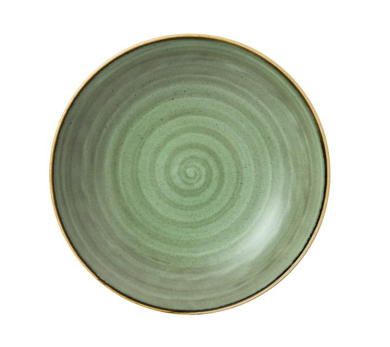 "Stonecast Samphire Green Coupe Pasta Bowl 12"" Box 6"
