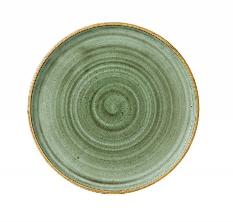 "Stonecast Samphire Green  Walled Plate 10 2/8"" Box 6"