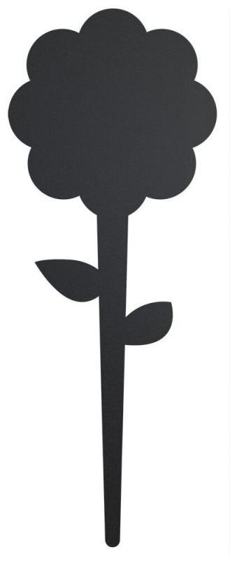 Silhouette flower chalkboard tag, incl. chalkma...