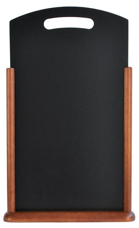 Securit® Handle large table chalkboard - Wood with lacquered dark brown finish