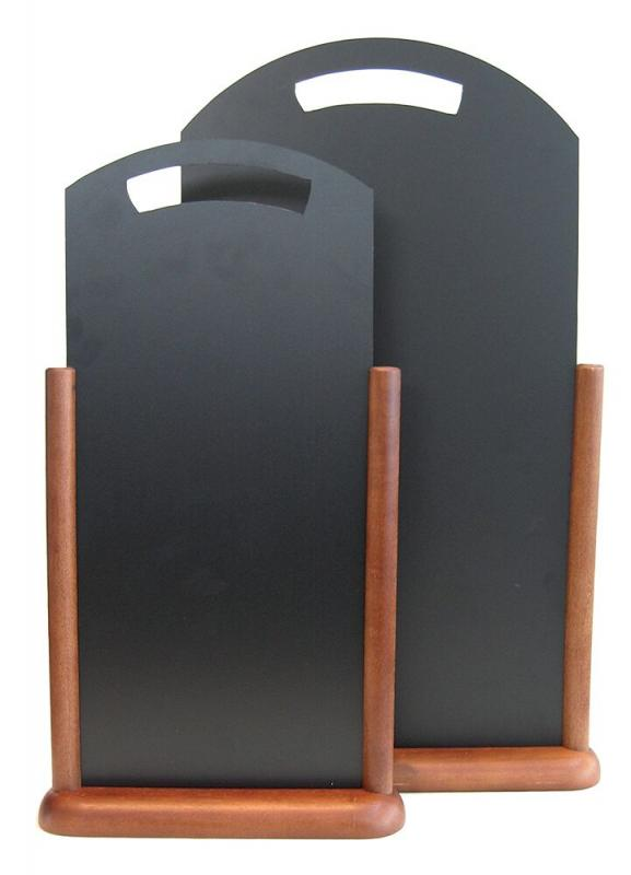 Securit® Handle extra large table chalkboard - Wood with lacquered dark brown finish