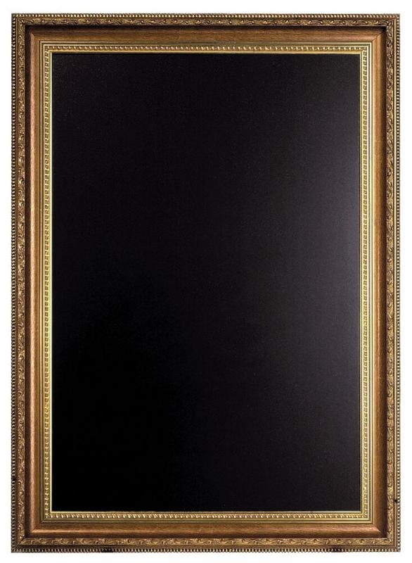Gold Chalk  Board, sophisticated engraved frame,75x100cm