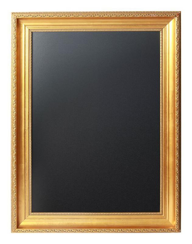 Securit® Gold Chalkboard  - Hard synthetic frame with gold coated finish