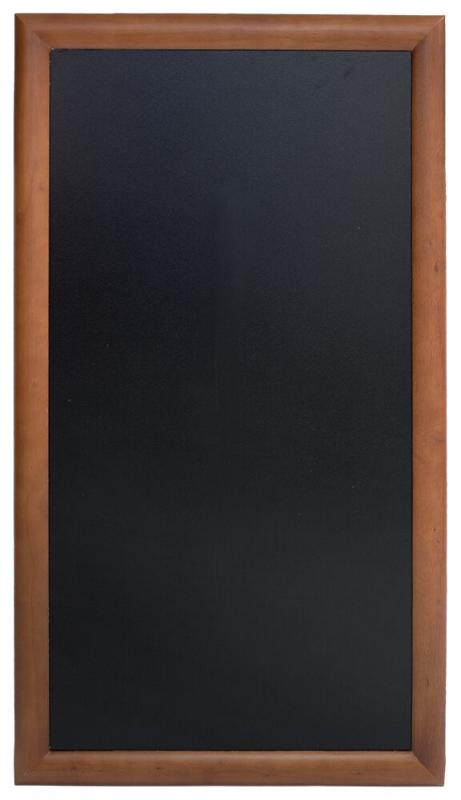 Hard wood chalkb. w lacquered brown finish,wall mounting screws included,56x100cm