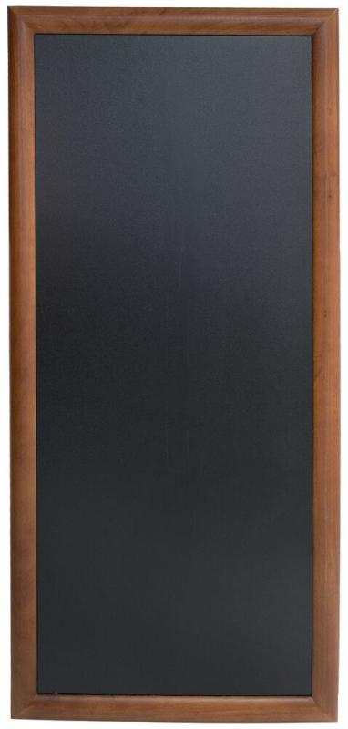 Hard wood chalkb. w lacquered brown finish,wall mounting screws included,56x120cm