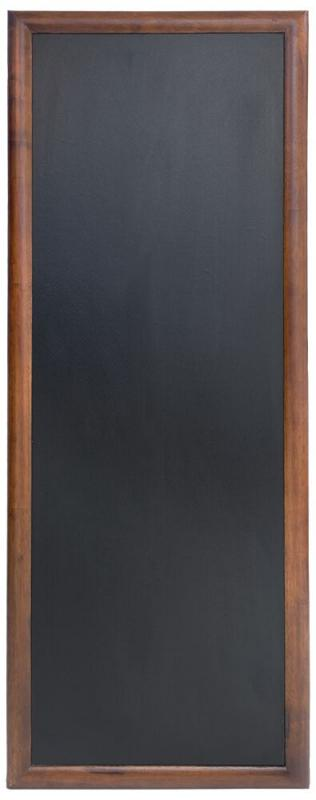 Hard wood chalkb. w lacquered brown finish,wall mounting screws included,56x150cm