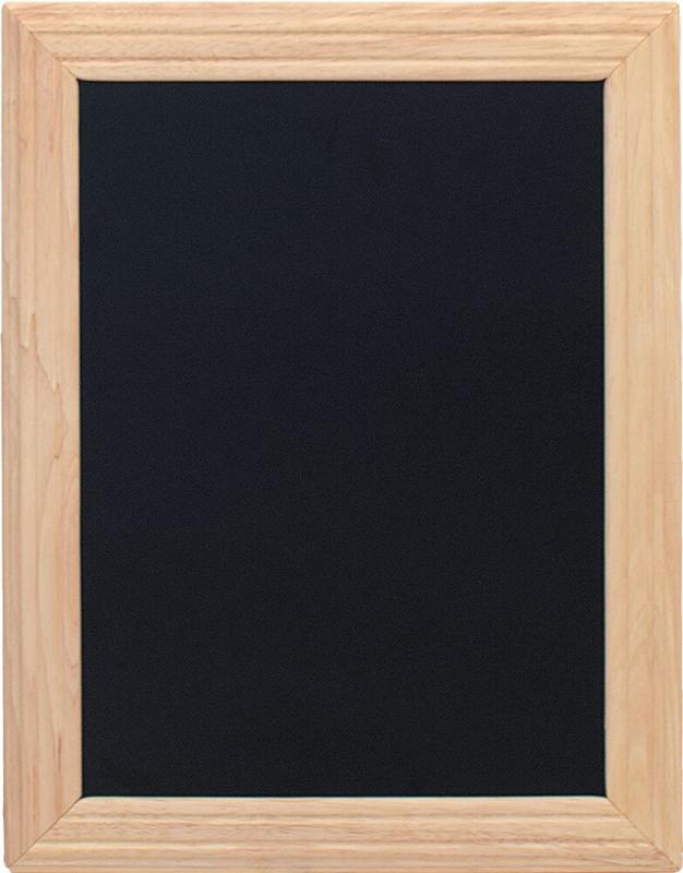 Hard wood chalkboard , w lacquered beech finish...