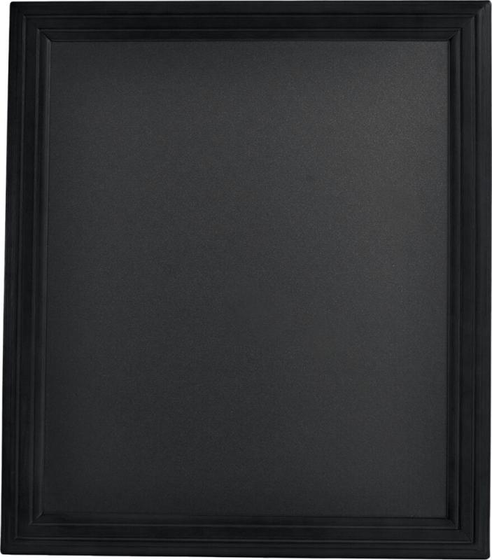 Hard wood chalkboard , w lacquered black finish...