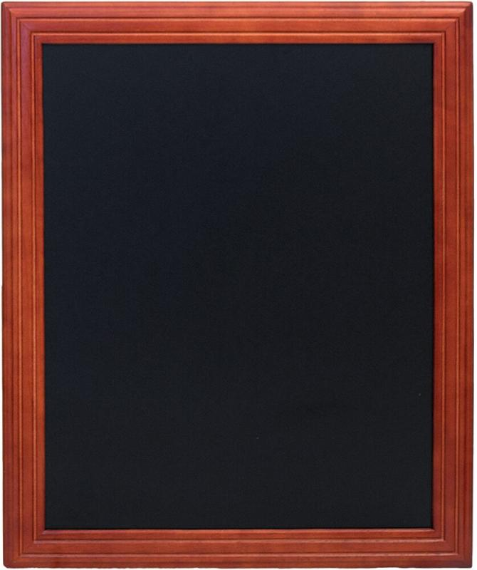 Securit® Universal hard wood chalkboard - with lacquered mahogany finish - wall mounting screws included