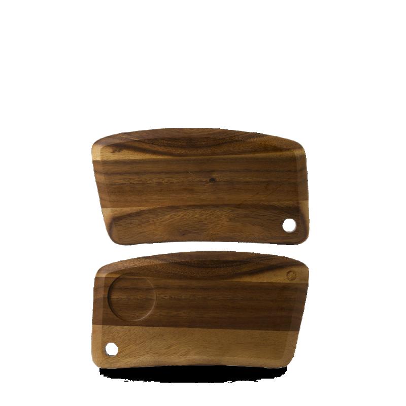 """Wood Small Geo Deli Board 12 1/8 X 6 1/2"""" Box 4"""