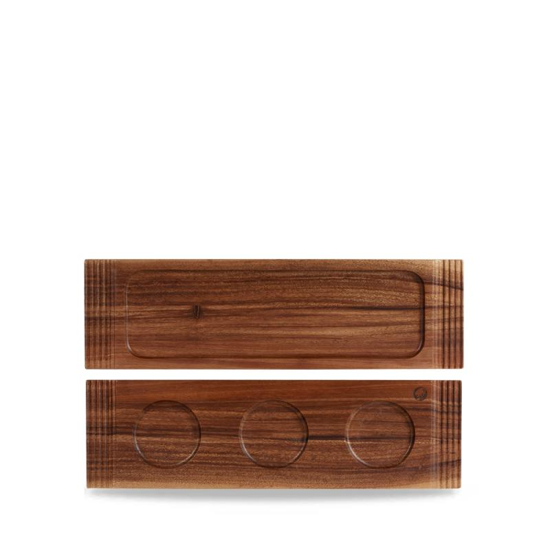 Acacia Wood Medium Double Handled Wooden Board