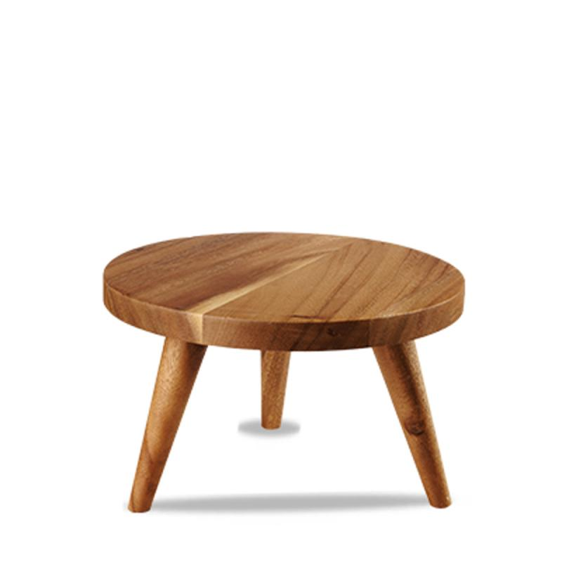 Wood Round Large Stand 25X15Cm Box 4